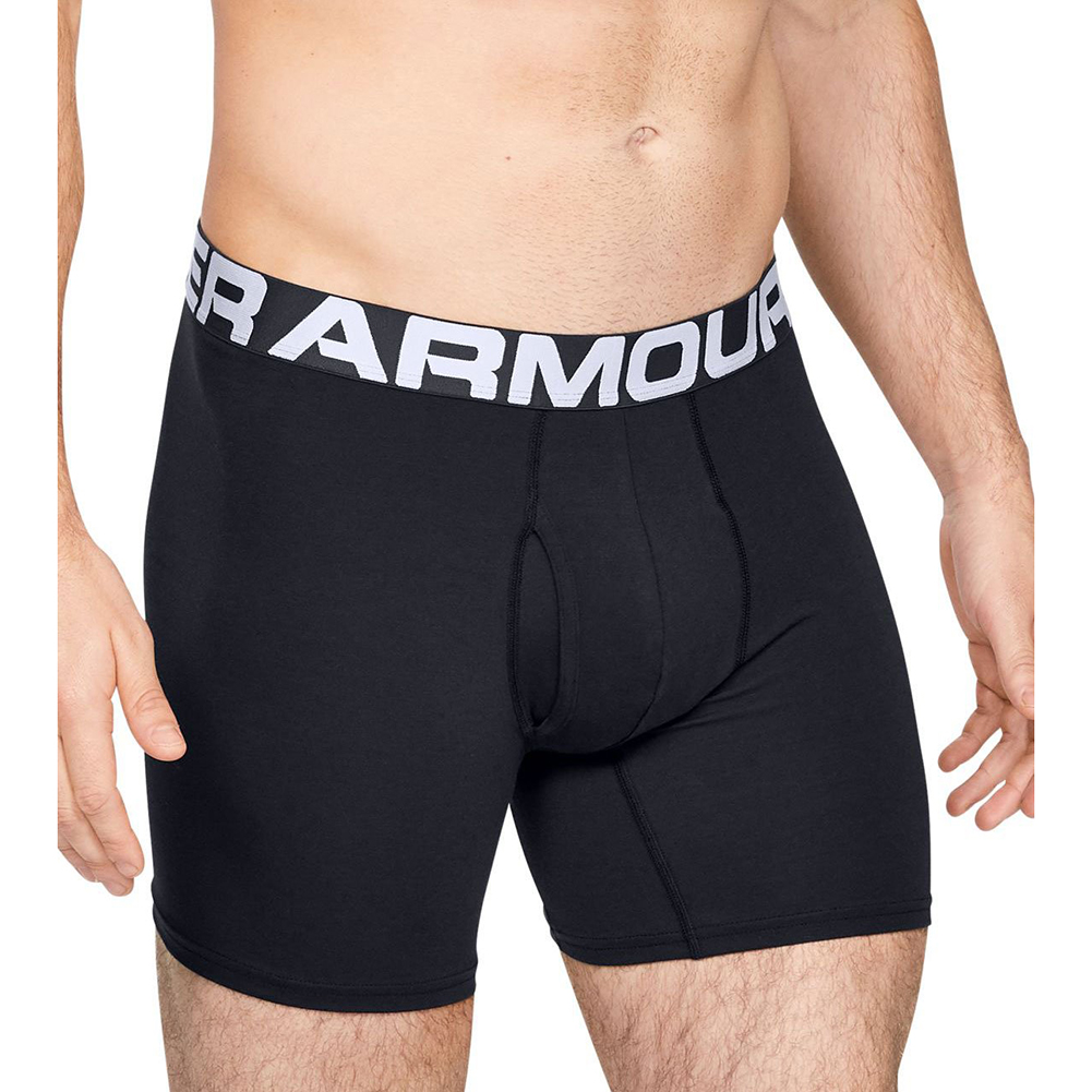thumbnail 6 - Under Armour Men's Charged Cotton Boxerjock 6-Inch Boxer, 3 Pack 1327426