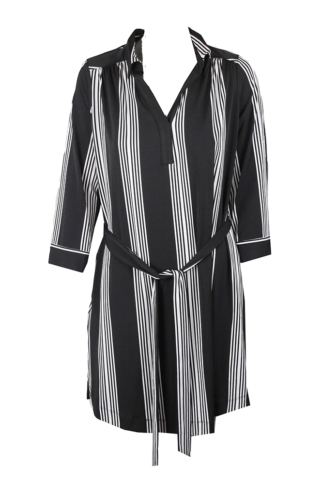 Inc International Concepts Plus Size Black White Striped Dress 3X ...