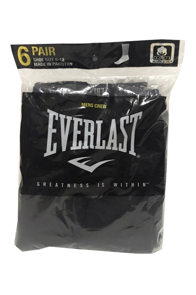 Everlast-Men-039-s-6-Pack-Cotton-Regular-Tube-Crew-Socks-Casual-or-Athletic thumbnail 3