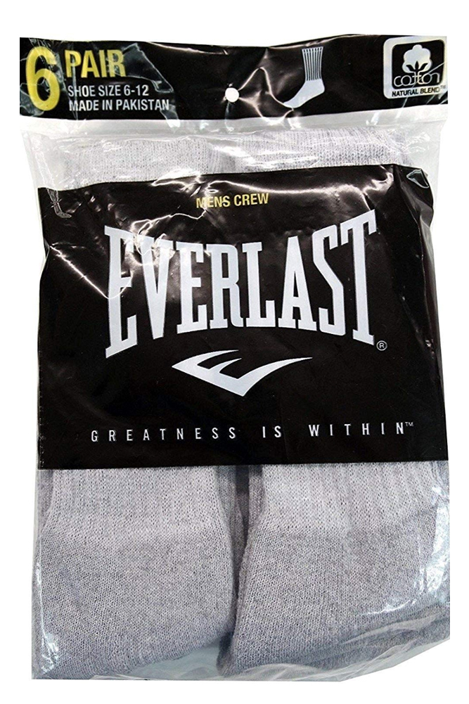 Everlast-Men-039-s-6-Pack-Cotton-Regular-Tube-Crew-Socks-Casual-or-Athletic thumbnail 5