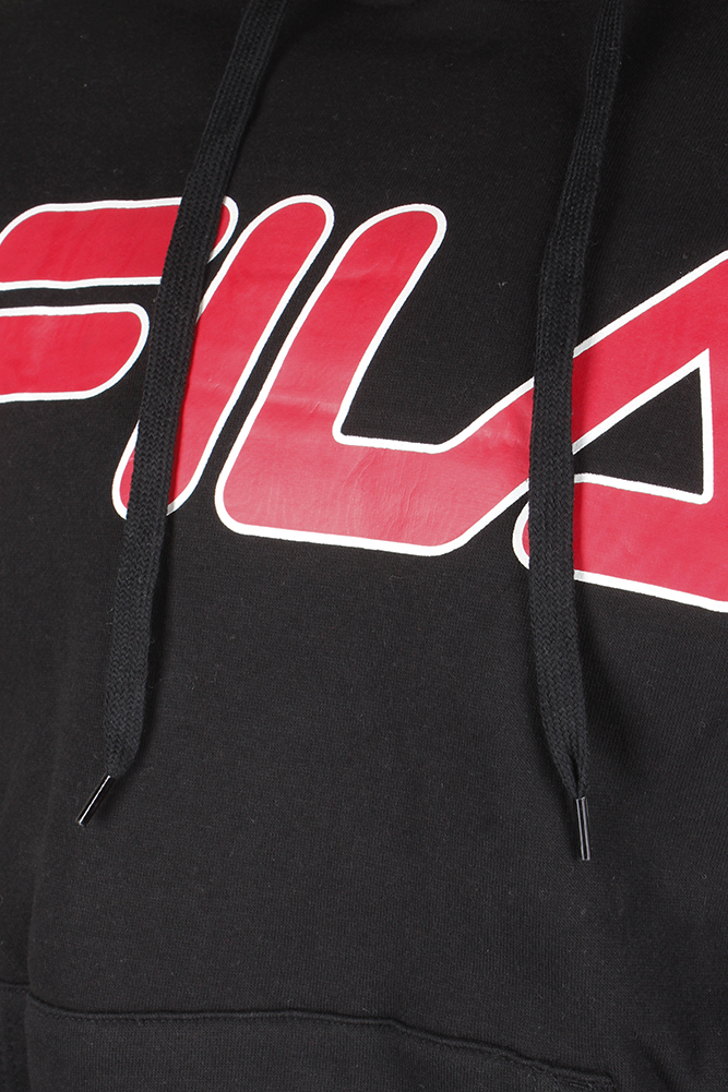 Fila-Men-039-s-Filled-Outline-Graphic-Logo-Front-Pocket-Heavy-Fleece-Hoodie thumbnail 4