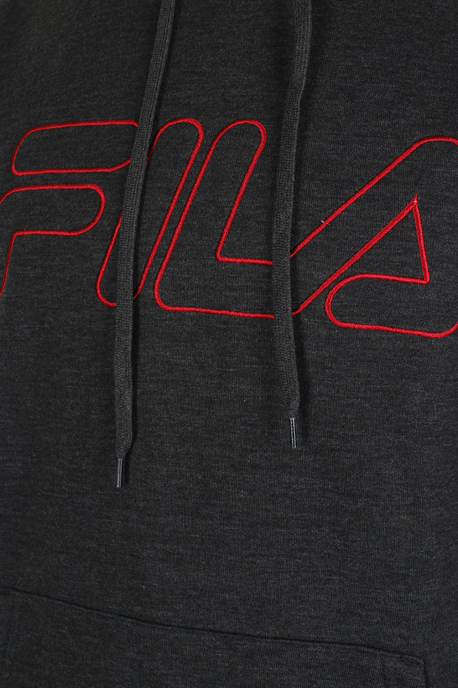 Fila-Men-039-s-Outlined-EmbroideGrey-Logo-Front-Pocket-Heavy-Fleece-Hoodie thumbnail 7