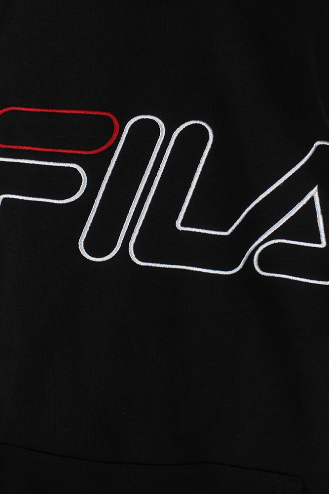 Fila-Men-039-s-Outlined-EmbroideGrey-Logo-Front-Pocket-Heavy-Fleece-Hoodie thumbnail 4