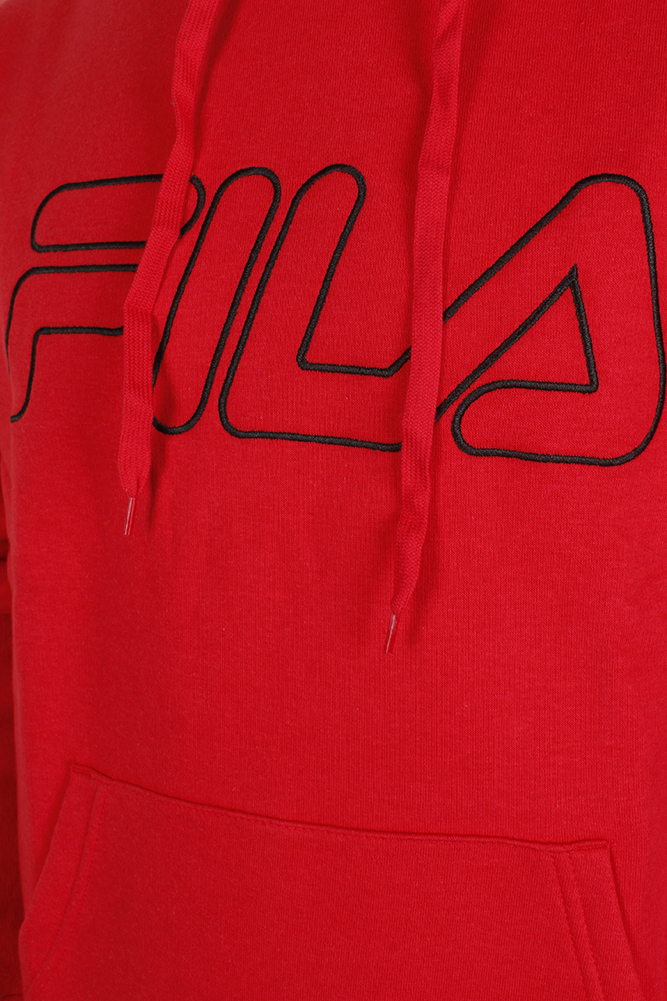Fila-Men-039-s-Outlined-EmbroideGrey-Logo-Front-Pocket-Heavy-Fleece-Hoodie thumbnail 10