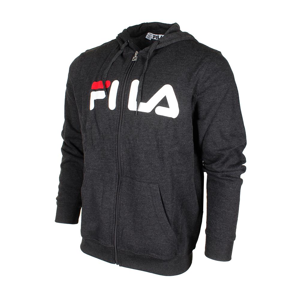 7acab8a3e4dfc Fila Men's Classic Logo Graphic Full Zip Heavy Fleece Hoodie   eBay