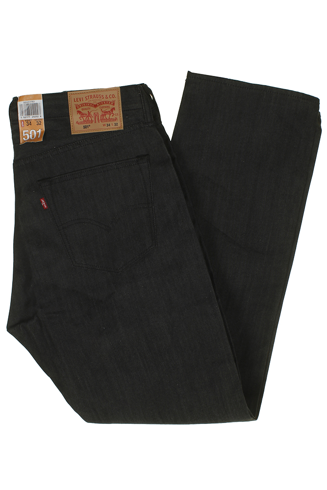 miniature 4 - Levi's Homme 501 Original Shrink To Fit Bouton Fly Classic Rise Denim Jeans