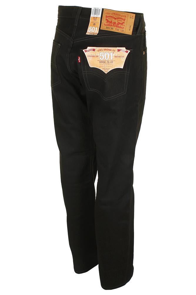 Levi-039-S-MEN-039-S-501-ORIGINALE-Strizzacervelli-Per-Adattarsi-Bottone-Classic-Rise-Denim-Jeans miniatura 6