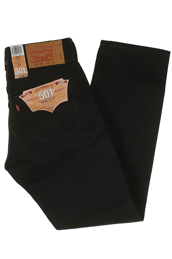 miniature 7 - Levi's Homme 501 Original Shrink To Fit Bouton Fly Classic Rise Denim Jeans
