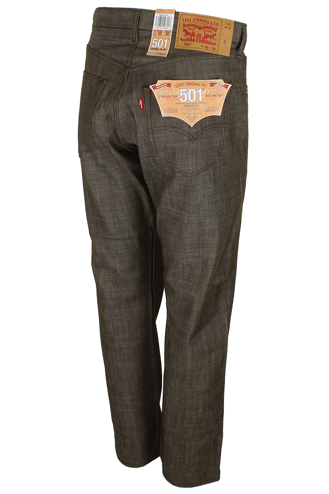 miniature 9 - Levi's Homme 501 Original Shrink To Fit Bouton Fly Classic Rise Denim Jeans