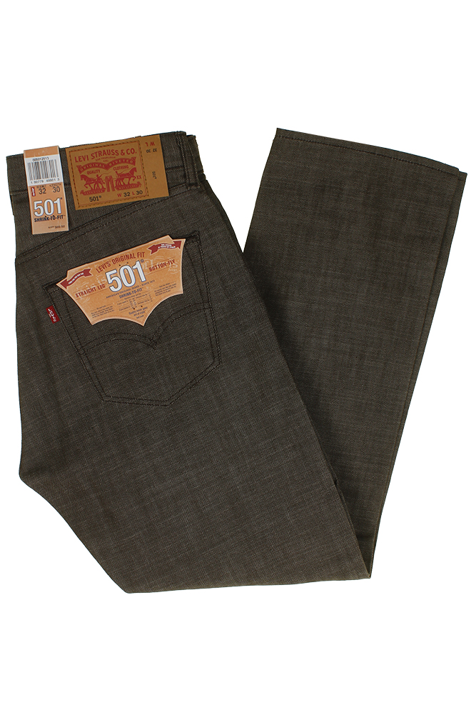miniature 10 - Levi's Homme 501 Original Shrink To Fit Bouton Fly Classic Rise Denim Jeans