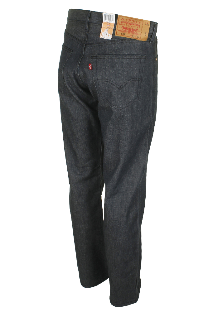 miniature 12 - Levi's Homme 501 Original Shrink To Fit Bouton Fly Classic Rise Denim Jeans