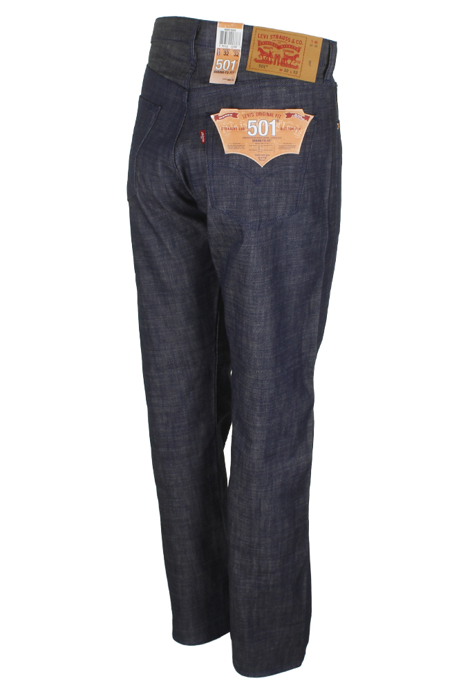 miniature 15 - Levi's Homme 501 Original Shrink To Fit Bouton Fly Classic Rise Denim Jeans