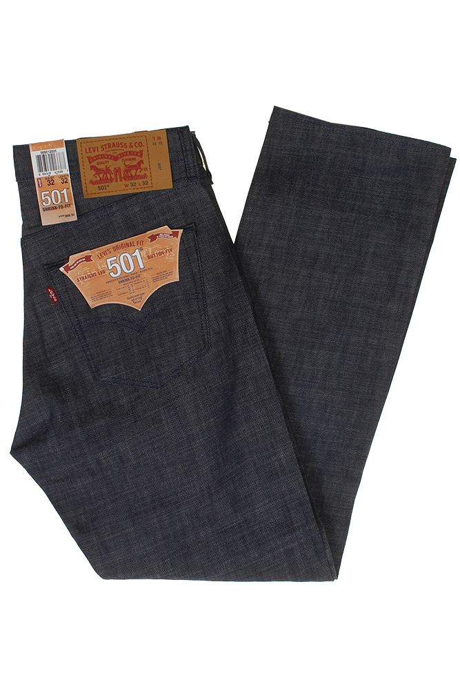 miniature 16 - Levi's Homme 501 Original Shrink To Fit Bouton Fly Classic Rise Denim Jeans