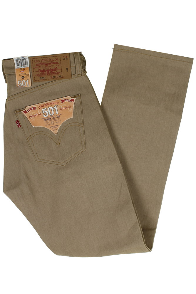 miniature 22 - Levi's Homme 501 Original Shrink To Fit Bouton Fly Classic Rise Denim Jeans