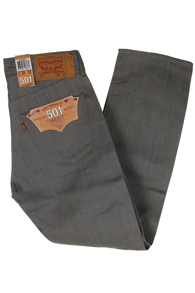 miniature 25 - Levi's Homme 501 Original Shrink To Fit Bouton Fly Classic Rise Denim Jeans