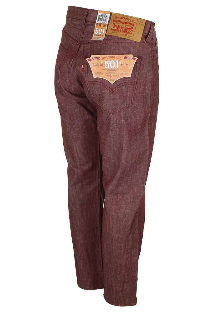 Levi-039-S-MEN-039-S-501-ORIGINALE-Strizzacervelli-Per-Adattarsi-Bottone-Classic-Rise-Denim-Jeans miniatura 30