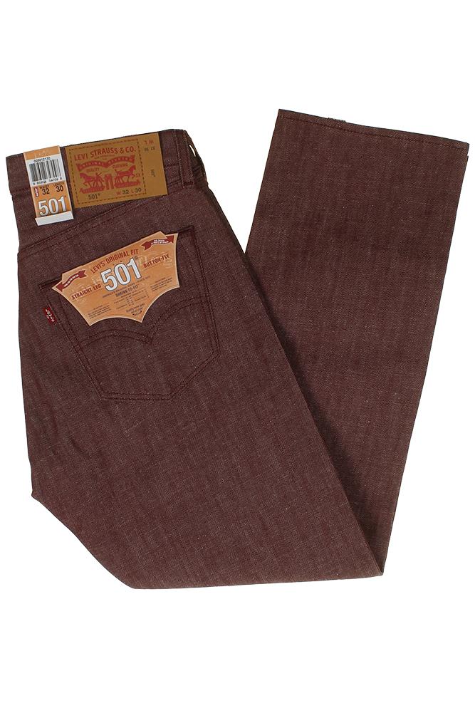 Levi-039-S-MEN-039-S-501-ORIGINALE-Strizzacervelli-Per-Adattarsi-Bottone-Classic-Rise-Denim-Jeans miniatura 31