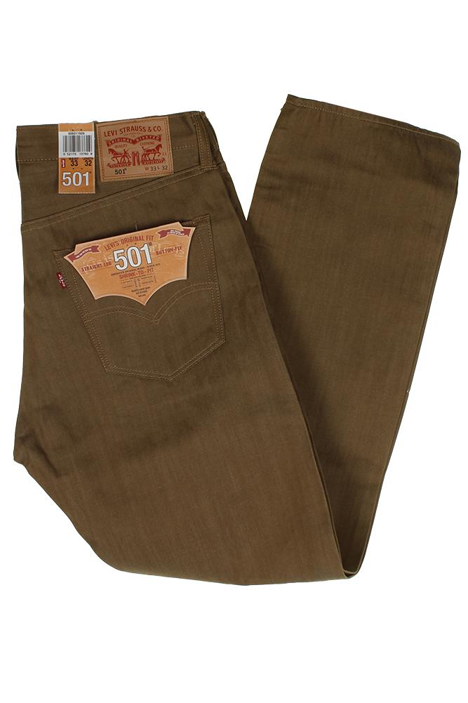 Levi-039-S-MEN-039-S-501-ORIGINALE-Strizzacervelli-Per-Adattarsi-Bottone-Classic-Rise-Denim-Jeans miniatura 34