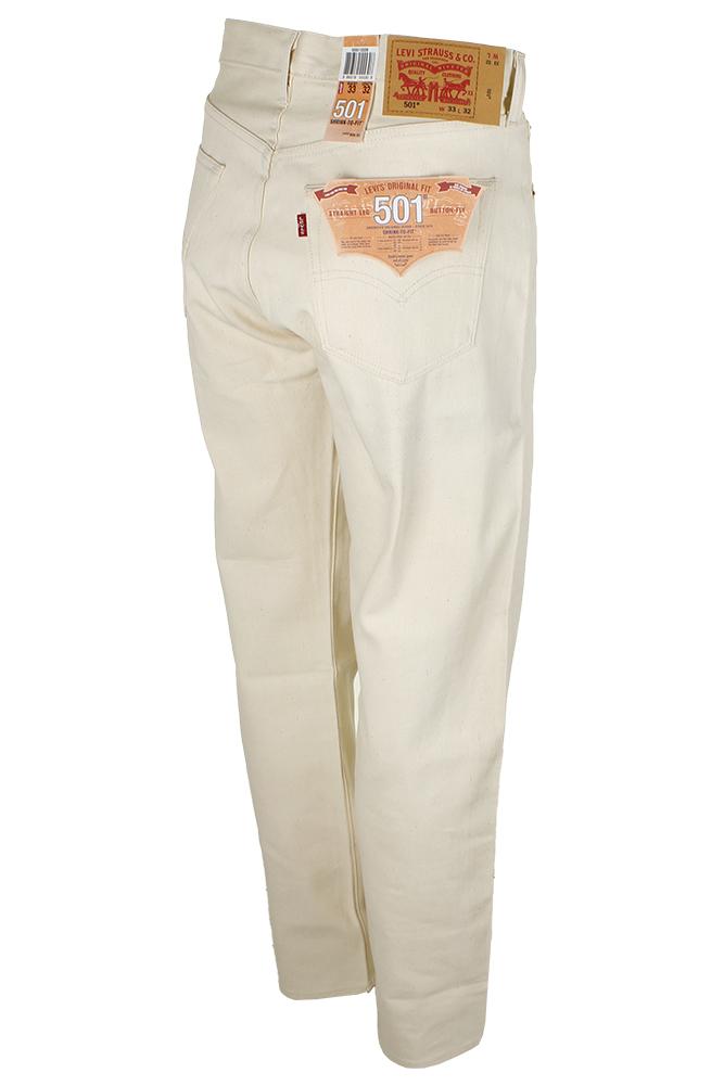 miniature 3 - Levi's Homme 501 Denim Original Shrink To Fit Braguette Boutonnée Jeans