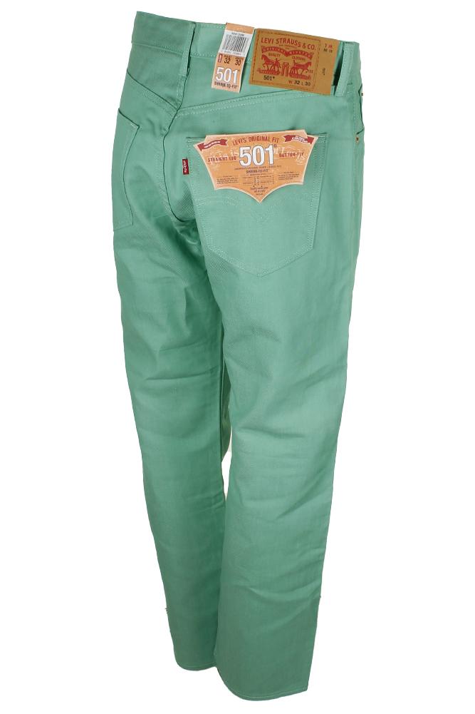 miniature 12 - Levi's Homme 501 Denim Original Shrink To Fit Braguette Boutonnée Jeans