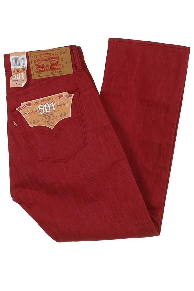 miniature 28 - Levi's Homme 501 Denim Original Shrink To Fit Braguette Boutonnée Jeans