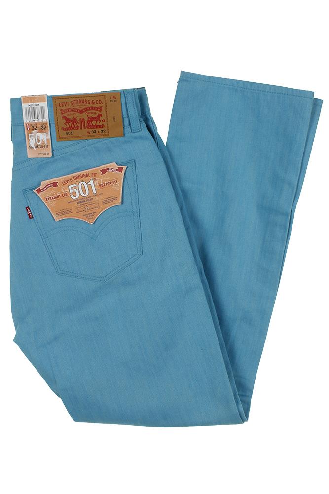 miniature 31 - Levi's Homme 501 Denim Original Shrink To Fit Braguette Boutonnée Jeans