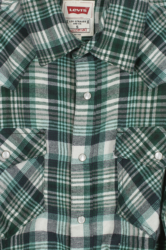 Levi-039-s-Men-039-s-Long-Sleeve-Western-Cut-Snap-Plaid-Shirt thumbnail 28