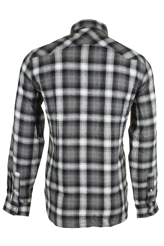 Levi-039-s-Men-039-s-Long-Sleeve-Western-Cut-Snap-Plaid-Shirt thumbnail 15