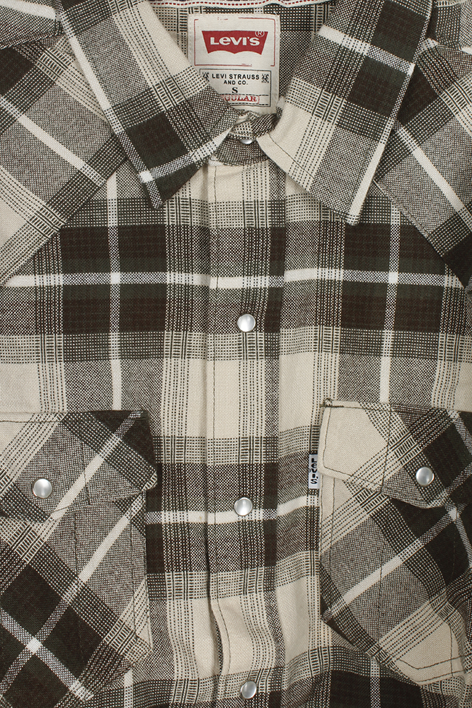 Levi-039-s-Men-039-s-Long-Sleeve-Western-Cut-Snap-Plaid-Shirt thumbnail 19