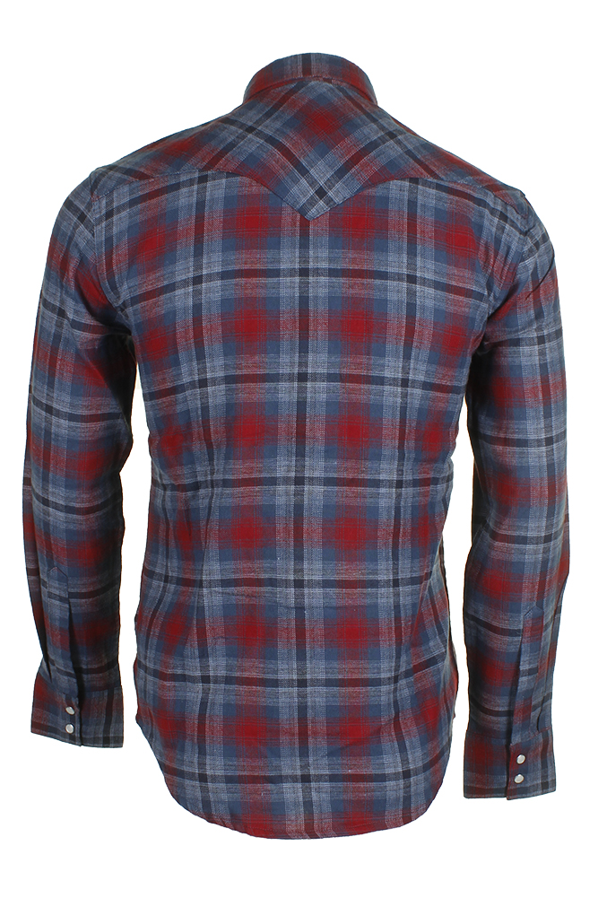 Levi-039-s-Men-039-s-Long-Sleeve-Western-Cut-Snap-Plaid-Shirt thumbnail 9