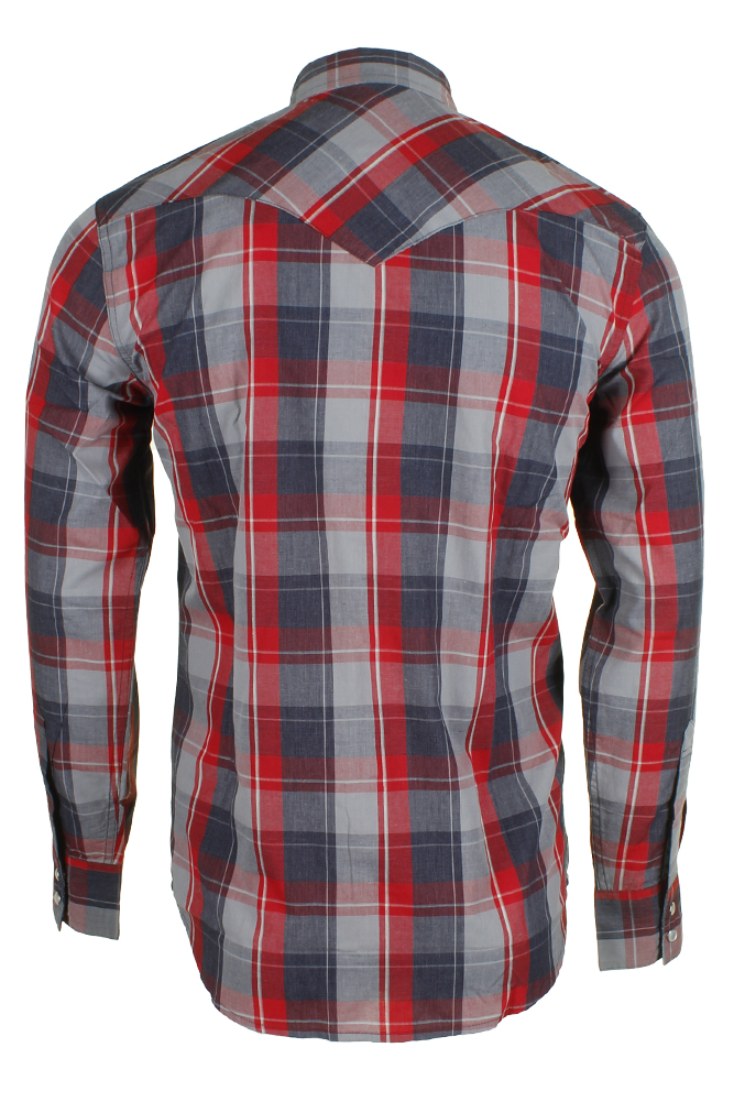 Levi-039-s-Men-039-s-Long-Sleeve-Western-Cut-Snap-Plaid-Shirt thumbnail 45