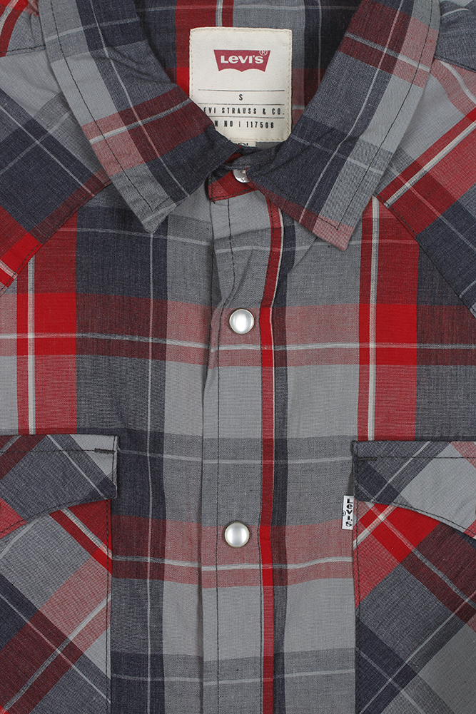 Levi-039-s-Men-039-s-Long-Sleeve-Western-Cut-Snap-Plaid-Shirt thumbnail 46