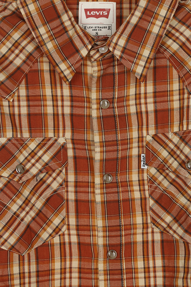 Levi-039-s-Men-039-s-Long-Sleeve-Western-Cut-Snap-Plaid-Shirt thumbnail 13