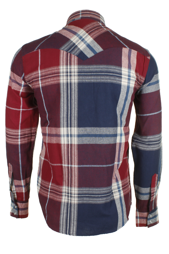 Levi-039-s-Men-039-s-Long-Sleeve-Western-Cut-Snap-Plaid-Shirt thumbnail 51