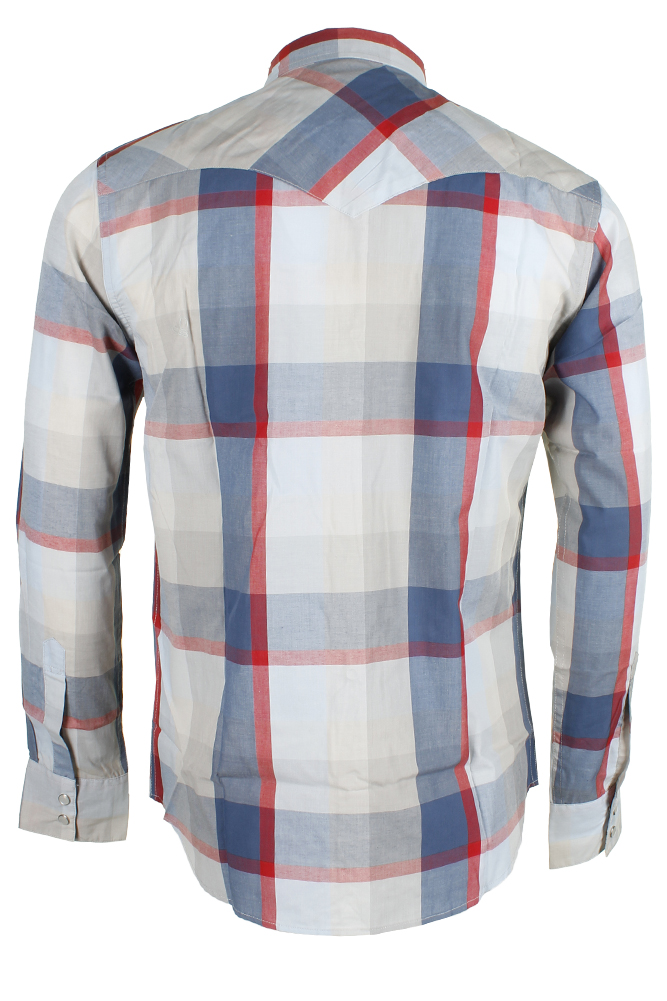 Levi-039-s-Men-039-s-Long-Sleeve-Western-Cut-Snap-Plaid-Shirt thumbnail 21