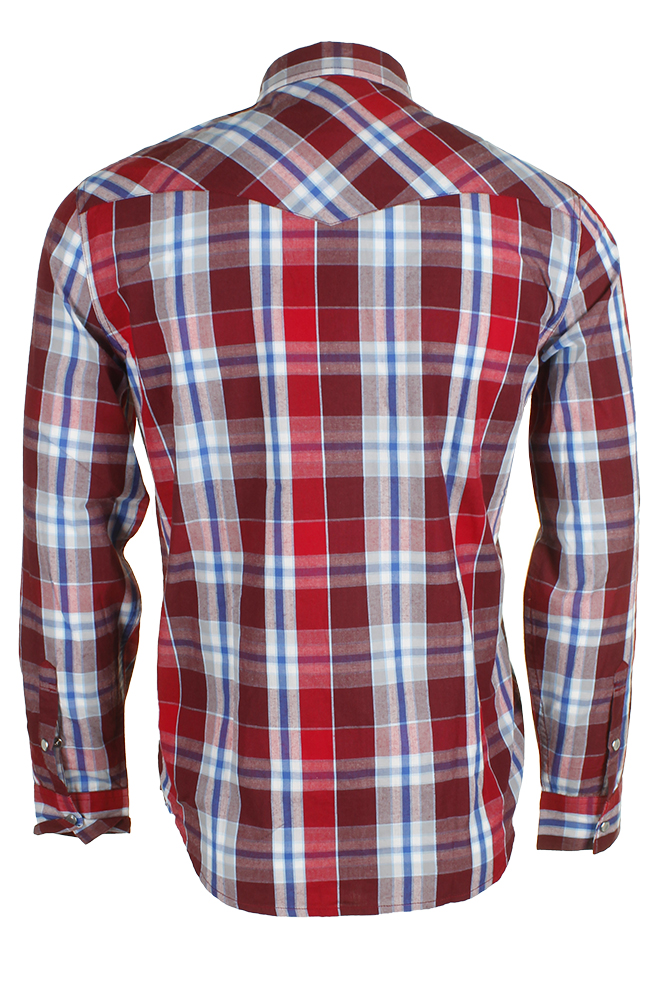 Levi-039-s-Men-039-s-Long-Sleeve-Western-Cut-Snap-Plaid-Shirt thumbnail 54