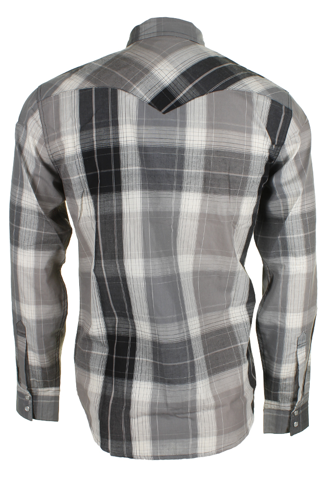 Levi-039-s-Men-039-s-Long-Sleeve-Western-Cut-Snap-Plaid-Shirt thumbnail 30