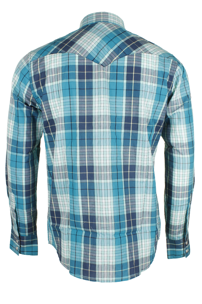 Levi-039-s-Men-039-s-Long-Sleeve-Western-Cut-Snap-Plaid-Shirt thumbnail 57