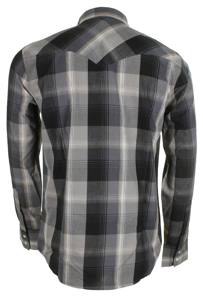 Levi-039-s-Men-039-s-Long-Sleeve-Western-Cut-Snap-Plaid-Shirt thumbnail 6