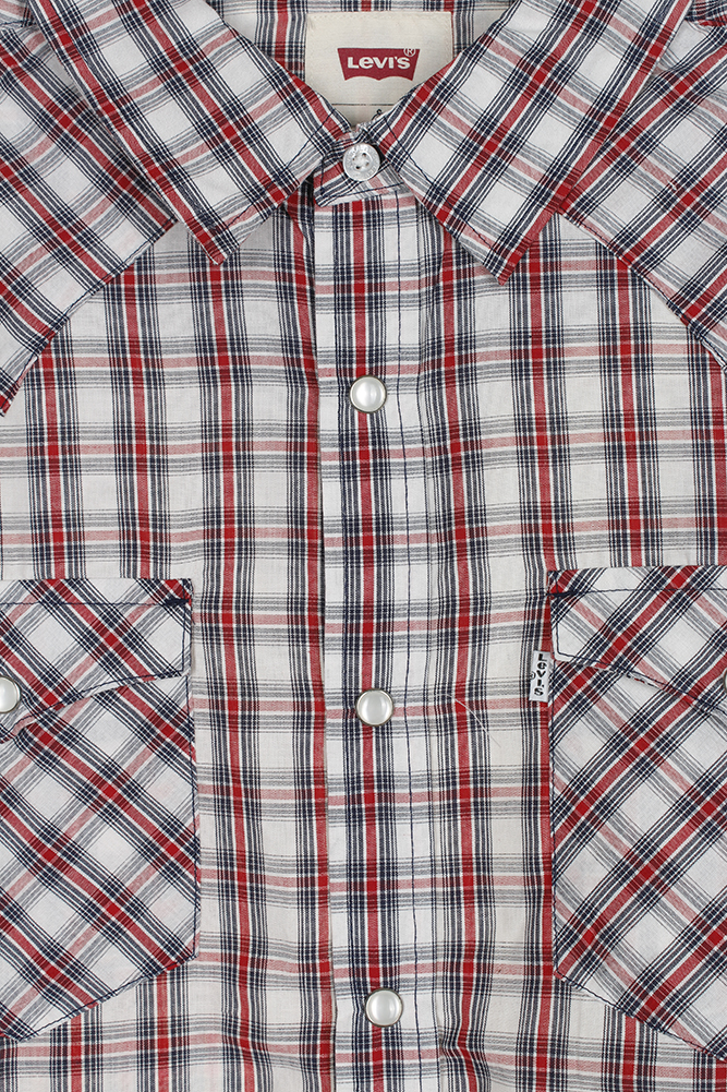 Levi-039-s-Men-039-s-Long-Sleeve-Western-Cut-Snap-Plaid-Shirt thumbnail 49