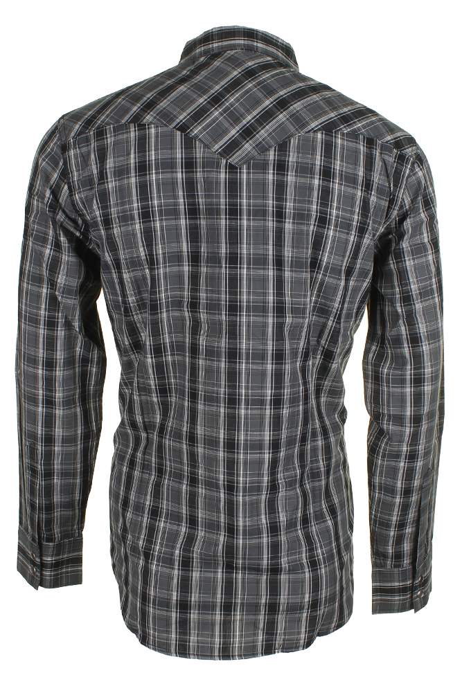 Levi-039-s-Men-039-s-Long-Sleeve-Western-Cut-Snap-Plaid-Shirt thumbnail 3
