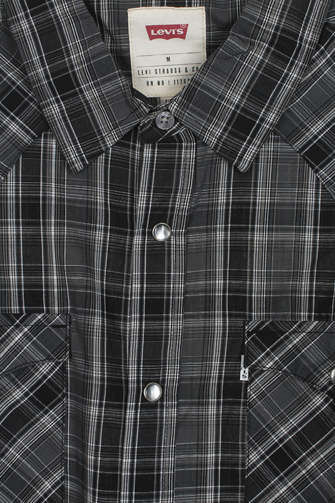 Levi-039-s-Men-039-s-Long-Sleeve-Western-Cut-Snap-Plaid-Shirt thumbnail 4