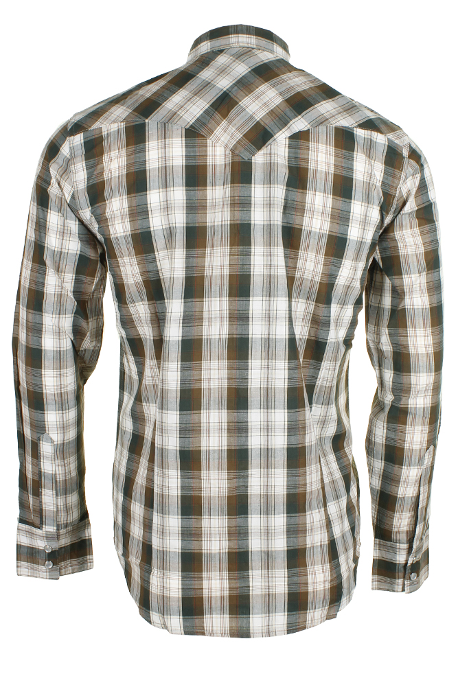Levi-039-s-Men-039-s-Long-Sleeve-Western-Cut-Snap-Plaid-Shirt thumbnail 24