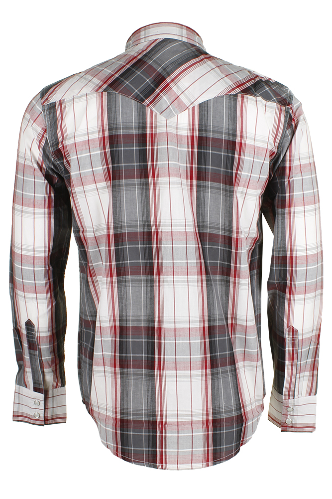 Levi-039-s-Men-039-s-Long-Sleeve-Western-Cut-Snap-Plaid-Shirt thumbnail 33