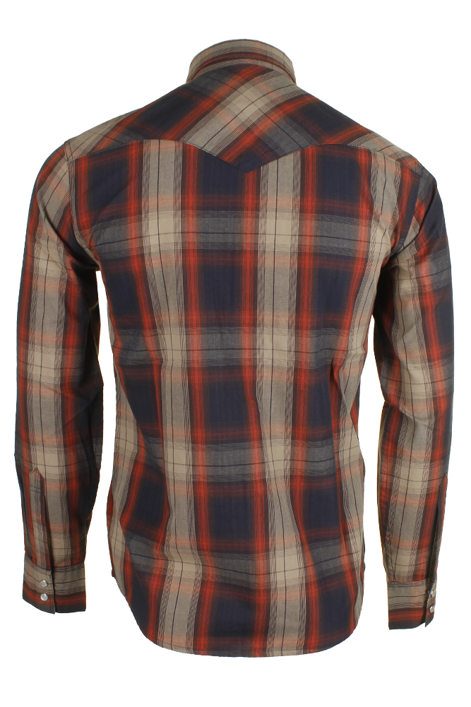 Levi-039-s-Men-039-s-Long-Sleeve-Western-Cut-Snap-Plaid-Shirt thumbnail 36