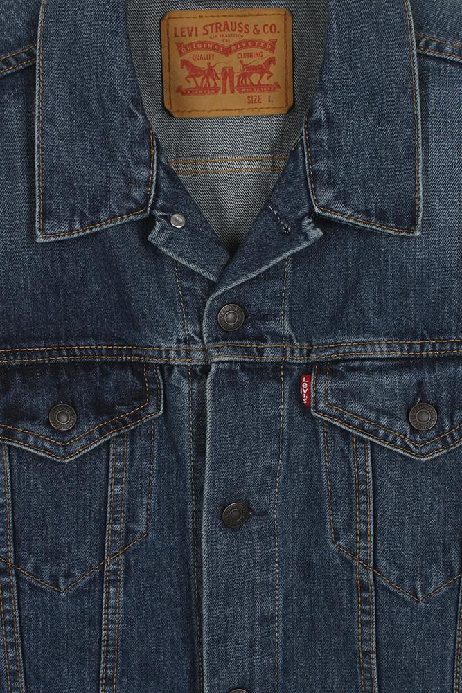Levi-039-s-Herren-Denim-Baumwolle-Knopfleiste-Denim-Trucker-Jacket Indexbild 7