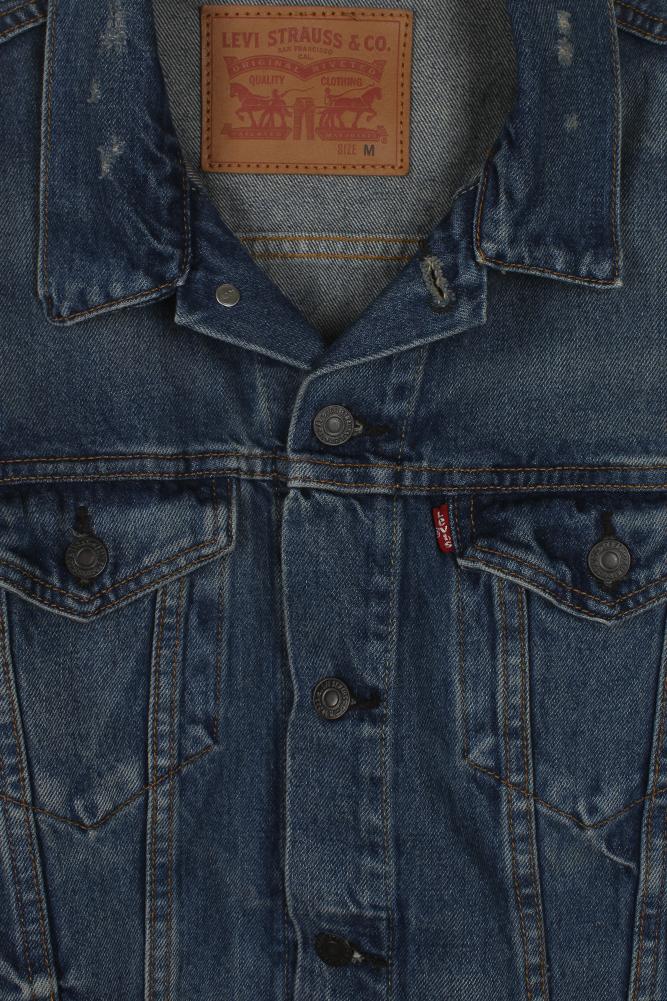 Levi-039-s-Herren-Denim-Baumwolle-Knopfleiste-Denim-Trucker-Jacket Indexbild 10
