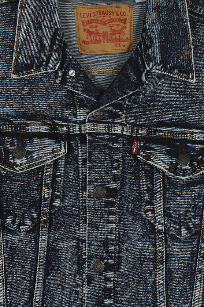 Levi-039-s-Herren-Denim-Baumwolle-Knopfleiste-Denim-Trucker-Jacket Indexbild 13