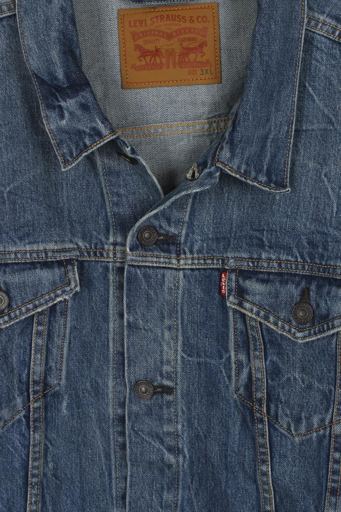 Levi-039-s-Herren-Denim-Baumwolle-Knopfleiste-Denim-Trucker-Jacket Indexbild 16