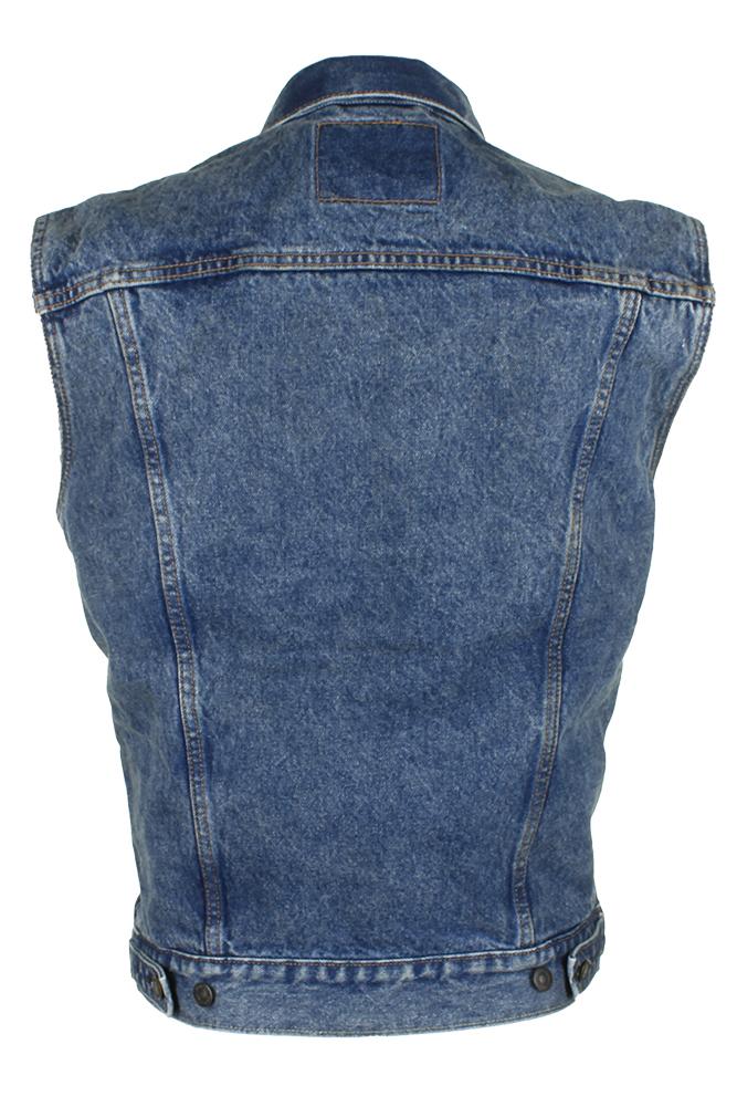 Levi-039-s-Men-039-s-Regular-Fit-Button-Up-Cut-Off-Denim-Trucker-Vest thumbnail 4